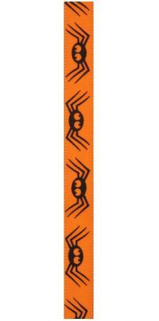 Ruban Halloween araignée orange et noir (x1) REF/4292