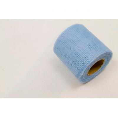 Ruban tulle bleu ciel 8cm x 20m (x1) REF/RL290