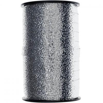 Bolduc gaufré argent 10mm x 25m (x1) REF/6472