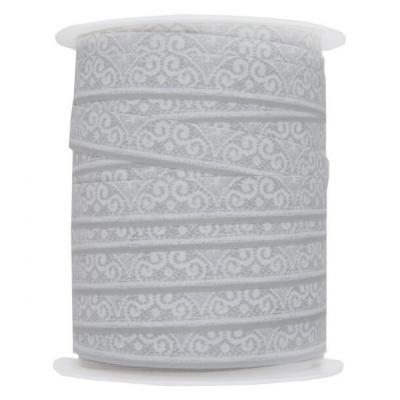 Ruban dentelle gris 10mm x 25m (x1) REF/5145