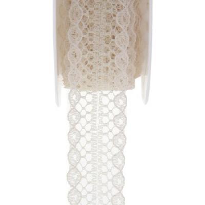 Ruban dentelle ivoire (x1) REF/5554