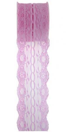 Ruban dentelle rose (x1) REF/5489