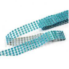 Ruban strass diamant bleu turquoise 2cm x 1.80m (x1) REF/DEC751