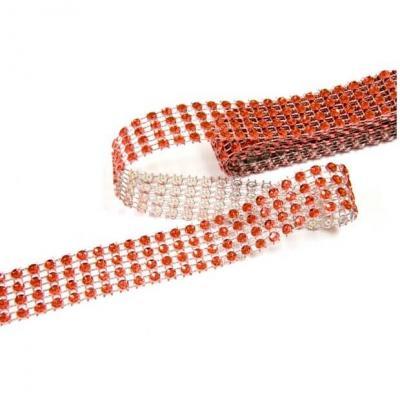 Ruban strass diamant rouge 2cm x 1.80m (x1) REF/DEC751