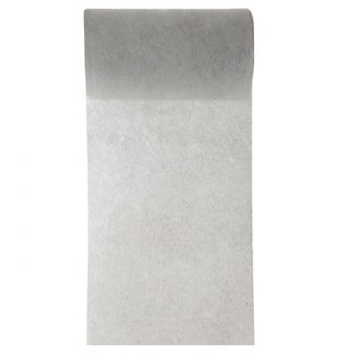 Ruban in tissé gris 10cm x 10m (x1) REF/2814
