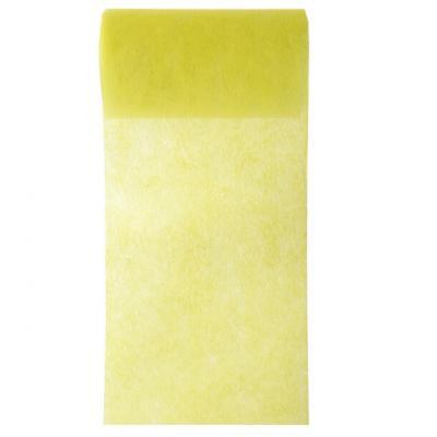 Ruban in tissé jaune 10cm x 10m (x1) REF/2814