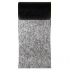 Ruban in tissé noir 10cm x 10m (x1) REF/2814