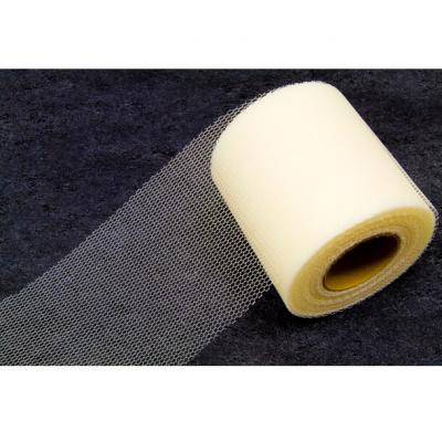 Ruban tulle ivoire 8cm x 20m (x1) REF/RL290