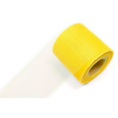 Ruban tulle jaune 8cm x 20m (x1) REF/RL290