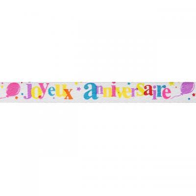 Ruban joyeux anniversaire festif (x1) REF/4821