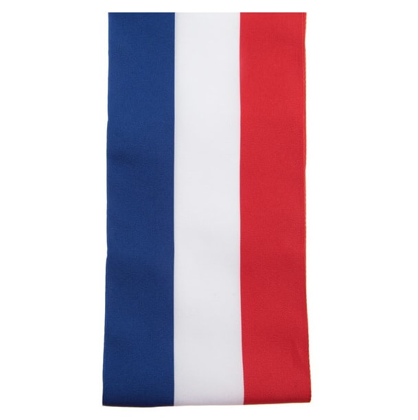 Ruban large tricolore france 8cm