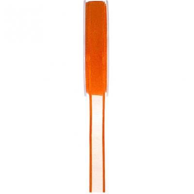 Ruban organdi bord satin orange 6mm x 20m (x1) REF/2723