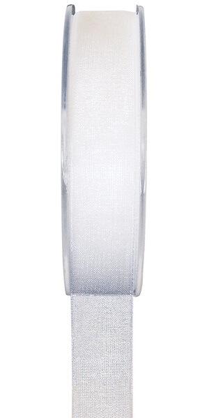 Ruban organdi blanc 25mm