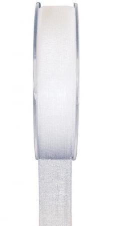 Ruban organdi 25mm blanc (x1) REF/2558