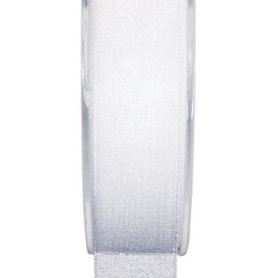Ruban organdi blanc 40mm x 20m (x1) REF/2558