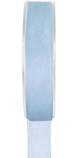 Ruban organdi bleu ciel 7mm