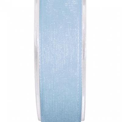 Ruban organdi 7mm bleu ciel (x1) REF/2558