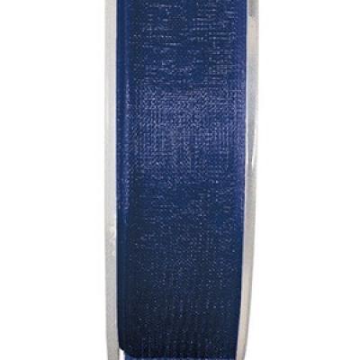 Ruban organdi 15mm bleu marine (x1) REF/2558