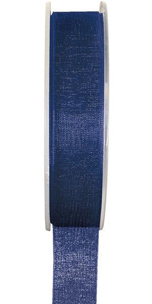 Ruban organdi bleu marine 25mm