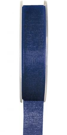 Ruban organdi 25mm bleu marine (x1) REF/2558