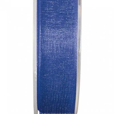 Ruban organdi 25mm bleu roy (x1) REF/2558