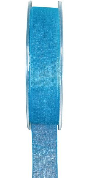 Ruban organdi bleu turquoise 15mm