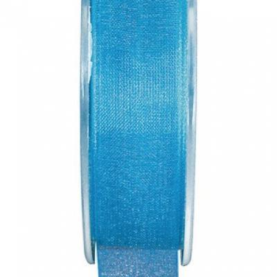 Ruban organdi 3mm bleu turquoise (x1) REF/2558