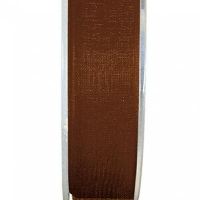 Ruban organdi 3mm chocolat (x1) REF/2558