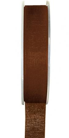 Ruban organdi 7mm chocolat (x1) REF/2558