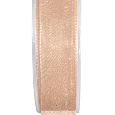 Ruban organdi 25mm corail (x1) REF/2558