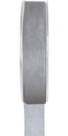 Ruban organdi 15mm gris (x1) REF/2558