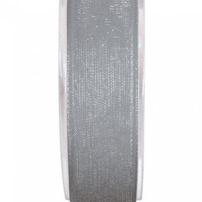 Ruban organdi 3mm gris (x1) REF/2558