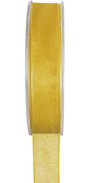 Ruban organdi jaune 15mm