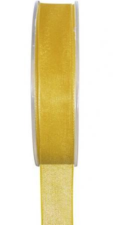 Ruban organdi 3mm jaune (x1) REF/2558