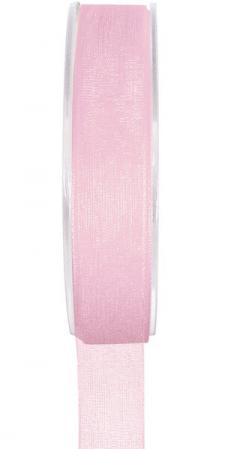Ruban organdi 15mm rose (x1) REF/2558