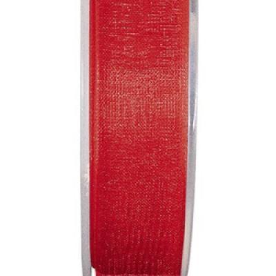 Ruban organdi 7mm rouge (x1) REF/2558