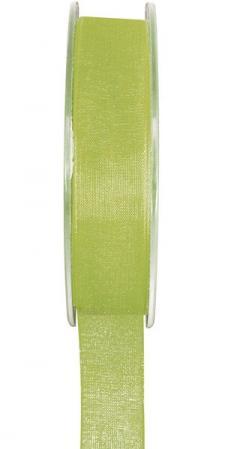 Ruban organdi 25mm vert anis (x1) REF/2558