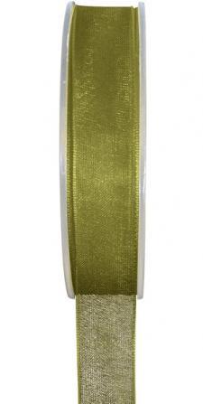 Ruban organdi 3mm vert olive (x1) REF/2558