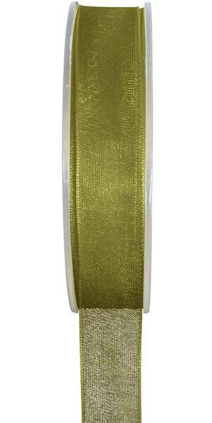 Ruban organdi vert olive 7mm