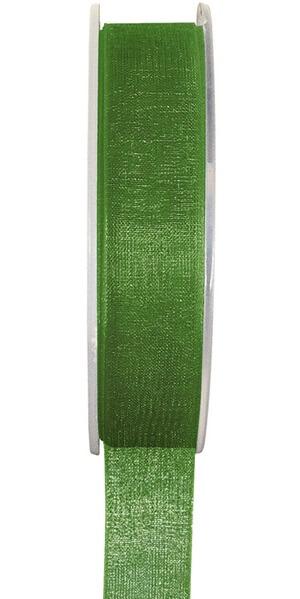 Ruban organdi vert pre 25mm