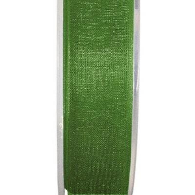 Ruban organdi 25mm vert pré (x1) REF/2558