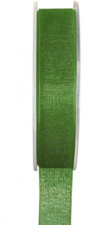 Ruban organdi 7mm vert pré (x1) REF/2558