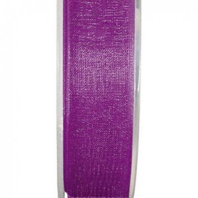 Ruban organdi 7mm violet (x1) REF/2558