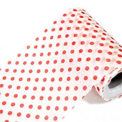 Ruban pois rouge 10cm x 10m (x1) REF/INT304