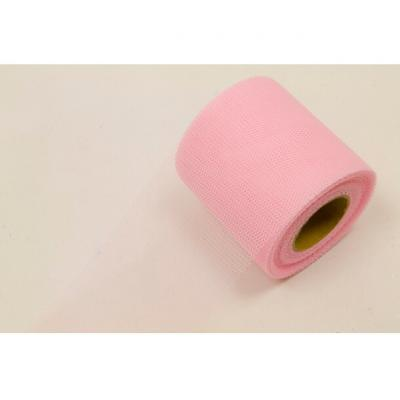 Ruban tulle rose 8cm x 20m (x1) REF/RL290
