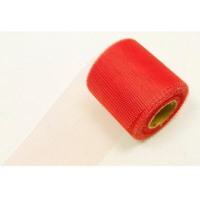 Ruban tulle rouge 8cm x 20m (x1) REF/RL290