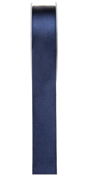 Ruban satin 25mm bleu marine