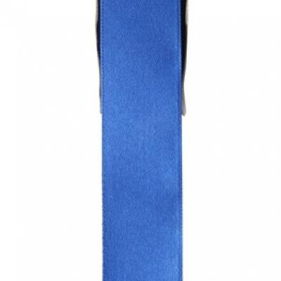 Ruban satin, 25mm: Bleu (x1) REF/2719