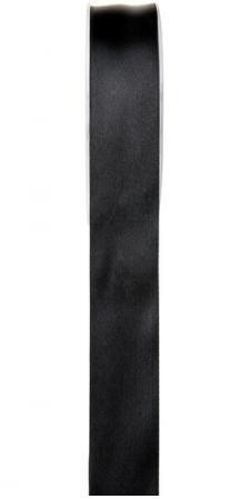 Ruban satin, 25mm: Noir (x1) REF/2719