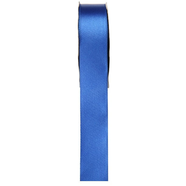 Ruban satin bleu 6mm x 25m